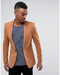 Super skinny blazer in tan linen blend medium 6465010