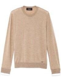 Tan Crew-neck Sweater