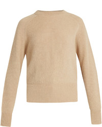 The Row Lenni Crew Neck Ribbed Knit Sweater