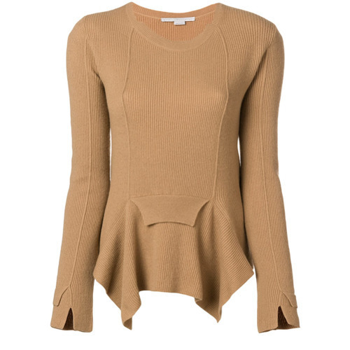 Stella McCartney Ribbed Handkerchief Hem Sweater
