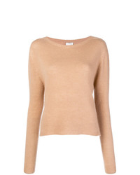 Alysi Ribbed Jewel Neck Sweater