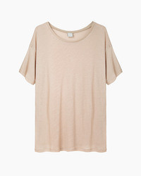 Tan Crew-neck T-shirt