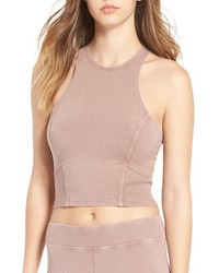 Washed Stretch Cotton Crop Top