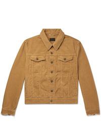 Saint Laurent Slim Fit Distressed Cotton Corduroy Jacket