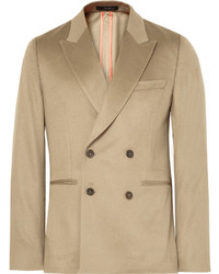 Paul Smith Beige Soho Slim Fit Double Breasted Cashmere Blazer