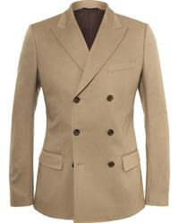 Camel stretch cotton blend blazer medium 386182