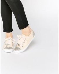 Lipsy Anna Nude Embellished Sneaker Sneakers