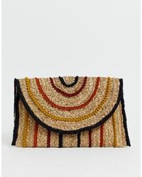 Pimkie Rafia Cross Body Bag With Coloured Braiding