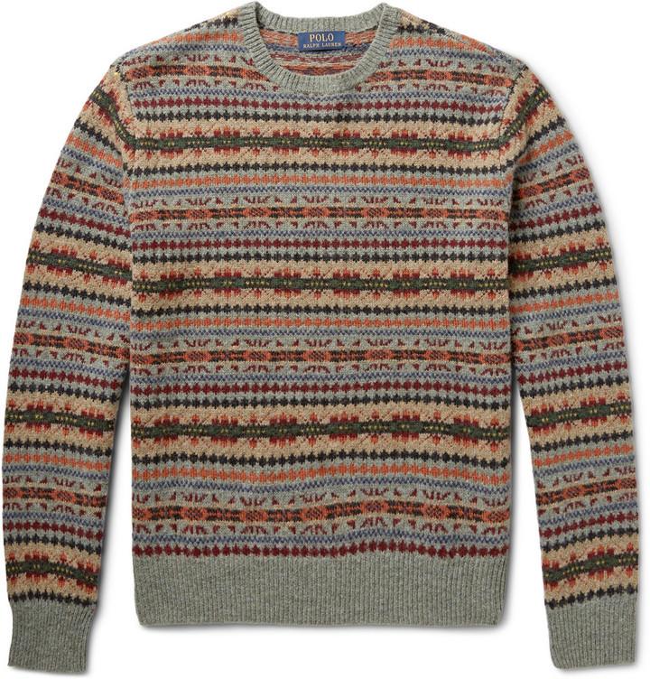 Polo Ralph Lauren Polo Ralph Lauren Fair Isle Wool-Blend Sweater ...