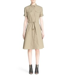 Burberry Brit Tuesday Short Sleeve Cotton Fit Flare Dress