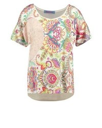 Desigual Valkiria Print T Shirt Crudo Shiny