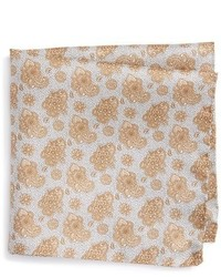 Floral print silk pocket square medium 950887