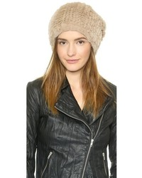 Knit fur hat medium 124123