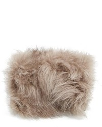 Tan Fur Clutch