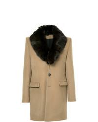 Tan Fur Collar Coat
