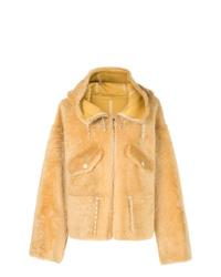 Yves Salomon Hooded Fitted Coat