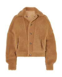 ARJÉ Reversible Leather Trimmed Suede And Shearling Jacket