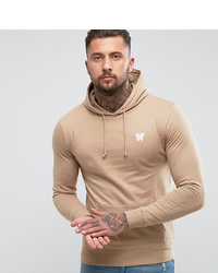 Good For Nothing Hoodie In Stone With Chest Logo To Asos