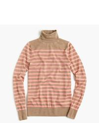 Italian featherweight cashmere turtleneck in stripe medium 822170