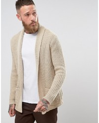 Ultimate knitted cardigan in oatmeal medium 3726790
