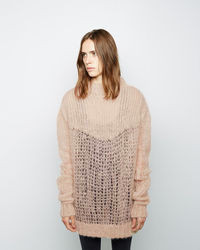 Tan Knit Oversized Sweater
