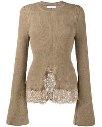 Knitted lace hem jumper medium 5054278