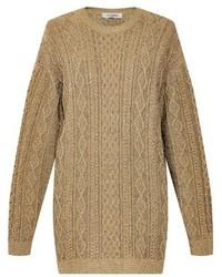 Oversized aran knit sweater medium 343258