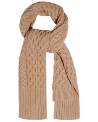 Chunky cable knit wool scarf medium 389395