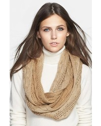 MICHAEL Michael Kors Michl Michl Kors Metallic Knit Infinity Scarf Camel One Size One Size