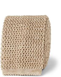 Tan Knit Tie