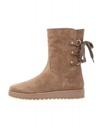 Tommy Hilfiger Lace Up Boots Beige