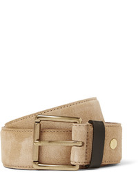 Ami 35cm Tan Suede And Leather Belt