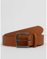 ASOS DESIGN Faux Leather Wide Belt In Tan
