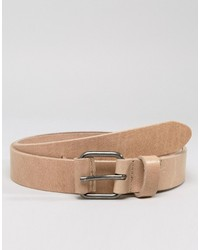 Asos Leather Belt With Coated Keeper
