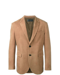 Neil Barrett Leather Blazer Brown