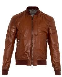 Belstaff Stockdale Leather Bomber Jacket