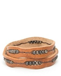 Will Leather Goods Black Wrap Bracelet