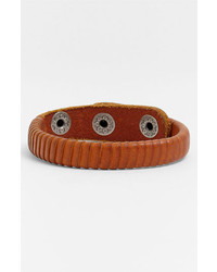 Will Leather Goods Peddler Bracelet Tan