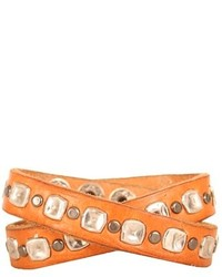 Will Leather Goods Studded Wrap Cuff