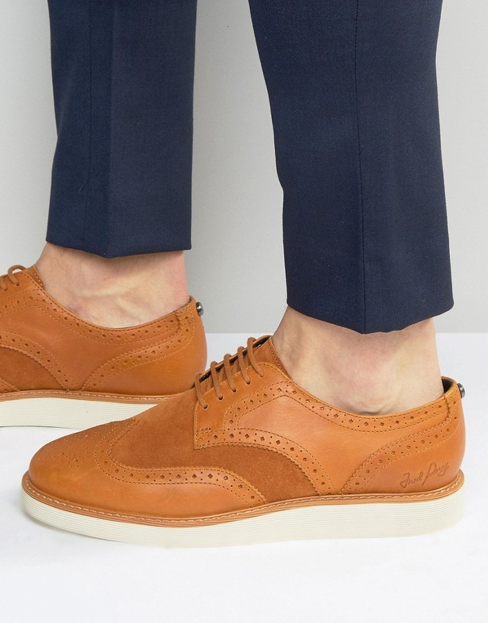 d1e26b78d2 ... Fred Perry Newburgh Brogue Leather Shoes ...