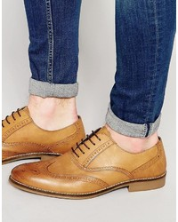 Smart brogues in tan leather medium 737477