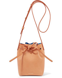 Mini mini leather bucket bag tan medium 1125973