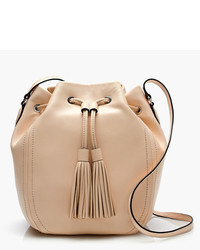 J.Crew Tassel Tie Bucket Bag In Smooth Leather