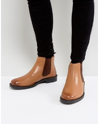 Silver Street Chelsea Boots In Tan Leather