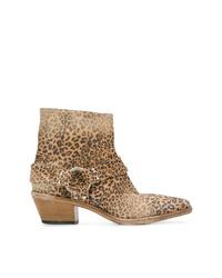 Golden Goose Deluxe Brand Leopard Print Western Boots