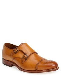 Tan Leather Double Monks