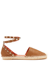 Tan Leather Espadrilles