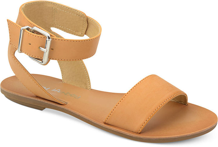 ed33099e3c6fb4 Tan Leather Flat Sandals Chinese Laundry Dirty Laundry Bubbly Flat Sandals  exquisite style . ...