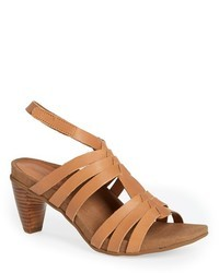 Tan Leather Gladiator Sandals