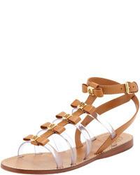 Tory Burch Kira Gladiator Bow Sandal Custom Tan